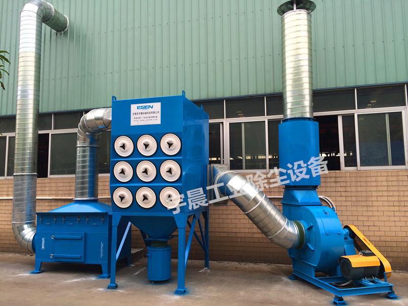 深圳移动式滤筒式除尘器厂家案例图片